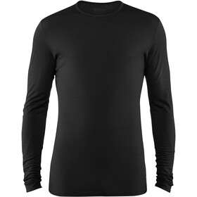 Fjällräven Keb Maglietta in lana a maniche lunghe Uomo, black